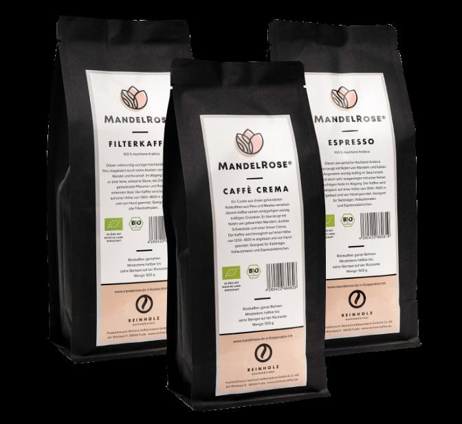 Mandelrose BIO Kaffee Sorten